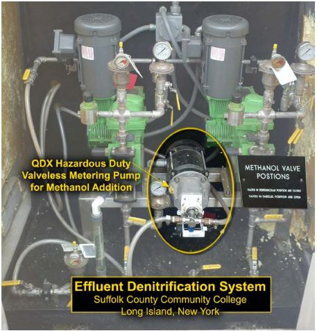 Effluent denitrification system